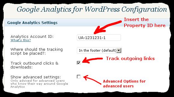 Google Analytics for WordPress -plugin configuration