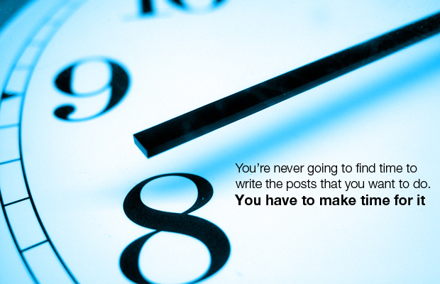 Blog writing - Make time for it!