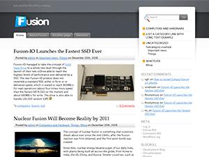 Fusion, Free WordPress Theme