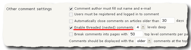 How to enable threaded comments in WordPress