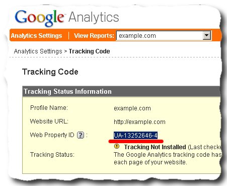 google analytics website property id after creating new profile How to set up Google Analytics