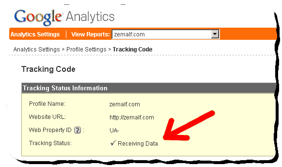 google analytics tracking status Optimized Google Analytics asynchronous tracking code