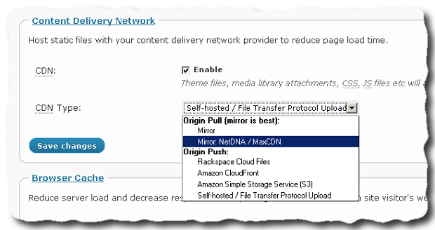 How to enable CDN on W3 Total Cache