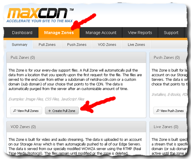 maxcdn manage zones How to create CDN for WordPress with MaxCDN