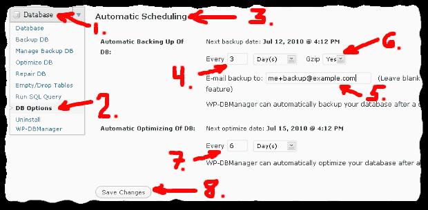 How to automatically backup and optimize WordPress database - Zemalf.com
